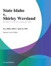 041594 State Idaho V Shirley Wersland