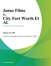 Download and Read Online Janus Films v. City Fort Worth Et Al.