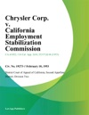 Chrysler Corp V California Employment Stabilization Commission
