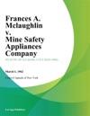 Frances A Mclaughlin V Mine Safety Appliances Company