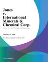 Jones V International Minerals  Chemical Corp