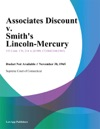 Associates Discount V Smiths Lincoln-Mercury
