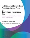 U Statewide Medical Acupuncture PC V Travelers Insurance Co