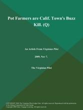 Pot Farmers Are Calif. Town's Buzz Kill (Q)
