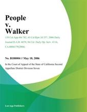 People V. Walker