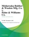 Mishawaka Rubber  Woolen Mfg Co V Paine  Williams Co