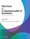 Harrison V Commonwealth Of Kentucky