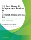 U Boai Zhong Yi Acupuncture Services Pc V General Assurance Ins Co