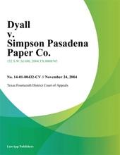 Dyall V. Simpson Pasadena Paper Co.