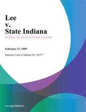 Lee V. State Indiana