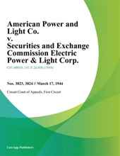 American Power and Light Co. v. Securities and Exchange Commission Electric Power & Light Corp.