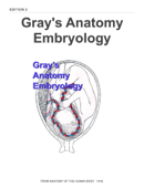 Gray's Anatomy Embryology