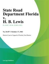 State Road Department Florida V. H. B. Lewis