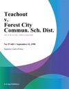 Teachout V Forest City Commun Sch Dist