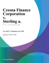 Cessna Finance Corporation V Sterling A