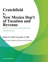 Crutchfield v. New Mexico Dept of Taxation and Revenue