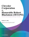 Chrysler Corporation V Honorable Robert Blackmon 101492