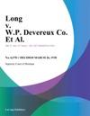Long V WP Devereux Co Et Al