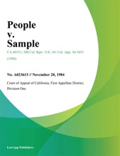 People V. Sample