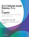 U Citibank South Dakota NA V Caputo