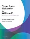 Neese Anna Hollander V William F