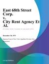 210 East 68Th Street Corp V City Rent Agency Et Al