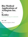 Bio-Medical Applications Of Arlington Inc V Kenley