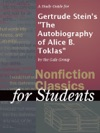 A Study Guide For Gertrude Steins The Autobiography Of Alice B Toklas