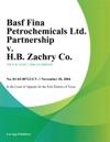 Basf Fina Petrochemicals Ltd Partnership V HB Zachry Co