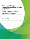 Rhea Jean Thompson And Lee Thompson And Piper Aircraft Corporation V Motch  Merryweather Machinery Company
