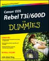 Canon EOS Rebel T3i  600D For Dummies