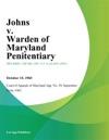 Johns V Warden Of Maryland Penitentiary