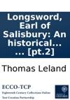 Longsword Earl Of Salisbury An Historical Romance In Two Volumes  Pt2