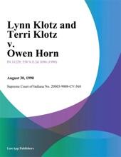 Lynn Klotz and Terri Klotz v. Owen Horn