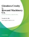 Glendora Crosby V Rowand Machinery Co