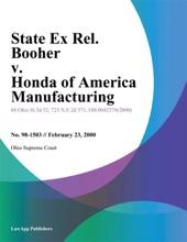 State Ex Rel. Booher v. Honda of America Manufacturing