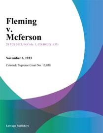 Fleming v. Mcferson