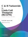 C  H Nationwide V Linda Gail Thompson 062294