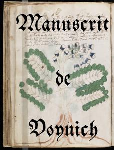 Manuscrit de Voynich La couverture du livre martien