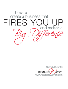 How to Create a Business That Fires You Up and Makes a Big Difference Book Review