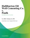 Halliburton Oil Well Cementing Co V Paulk