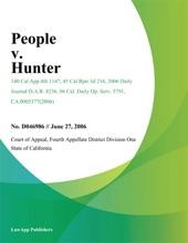 People V. Hunter