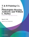 T  R Painting Co V Philadelphia Housing Authority And William L Rafsky