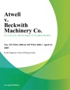 Atwell V Beckwith Machinery Co
