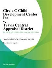 Circle C Child Development Center Inc. V. Travis Central Appraisal District