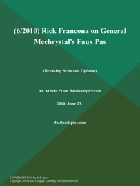 6 2010 Rick Francona On General Mcchrystal S Faux Pas Breaking News And Opinion