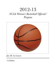 2012-2013 NCAA Women's Basketball Officials' Pregame Conference Book Review