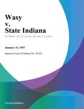 Wasy V. State Indiana