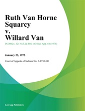 Ruth Van Horne Squarcy v. Willard Van