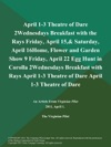 April 1-3 Theatre Of Dare 2Wednesdays Breakfast With The Rays Friday April 15 Saturday April 16Home Flower And Garden Show 9 Friday April 22 Egg Hunt In Corolla 2Wednesdays Breakfast With Rays April 1-3 Theatre Of Dare April 1-3 Theatre Of Dare
